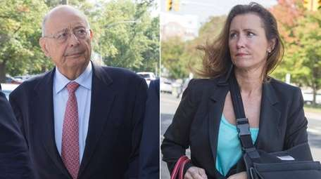 Former Sen. Alfonse D'Amato and his wife, Katuria