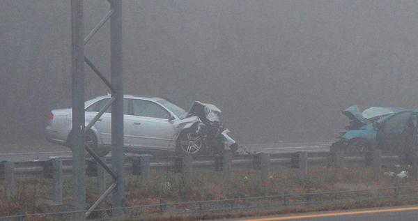 Scene of a fatal crash on Sunrise Highway
