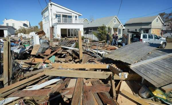 The aftermath of superstorm Sandy on Bayview Avenue