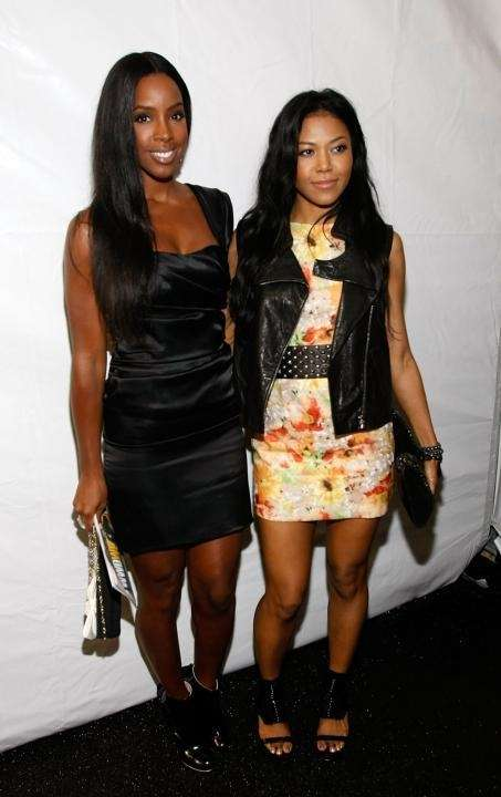 Singer Kelly Rowland, left, attends Fashion Week Spring