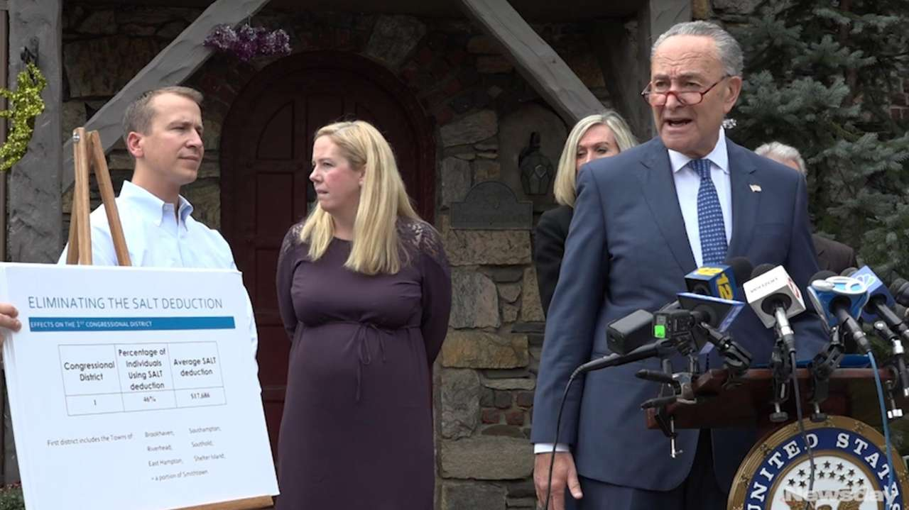 Sen. Chuck Schumer held a news conference at