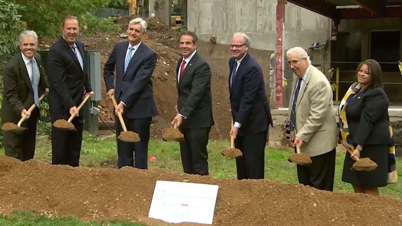 Gov. Andrew M. Cuomo broke ground at the