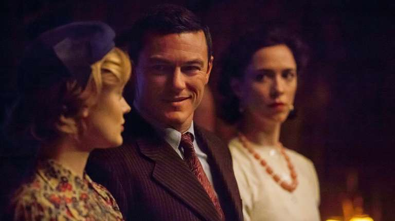 Bella Heathcote, left, Luke Evans and Rebecca Hall