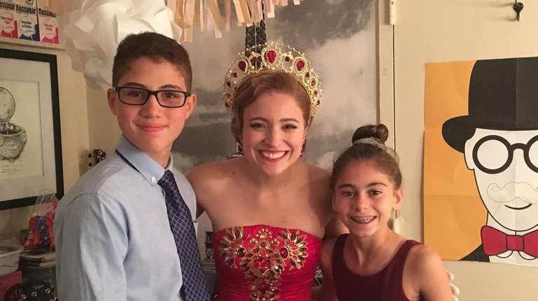 Actress Christy Altomare backstage at the Broadhurst Theatre
