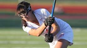 Smithtown East's Amanda Funaro takes a shot in