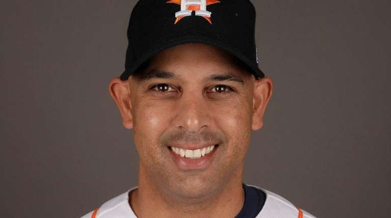 Alex Cora of the Astros.