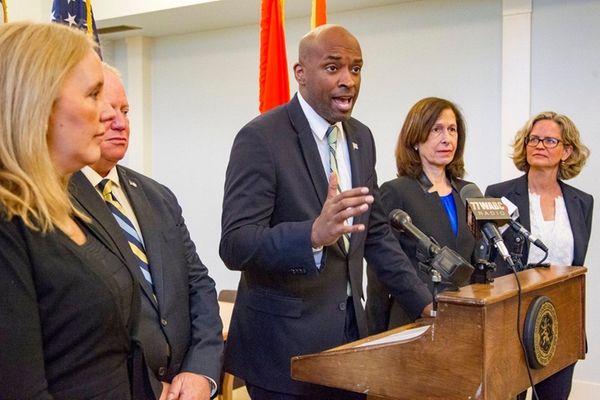 Nassau Legislature Minority Leader Kevan Abrahams (D-Freeport), seen