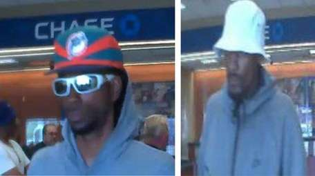 Nassau police say a robber has targeted eight