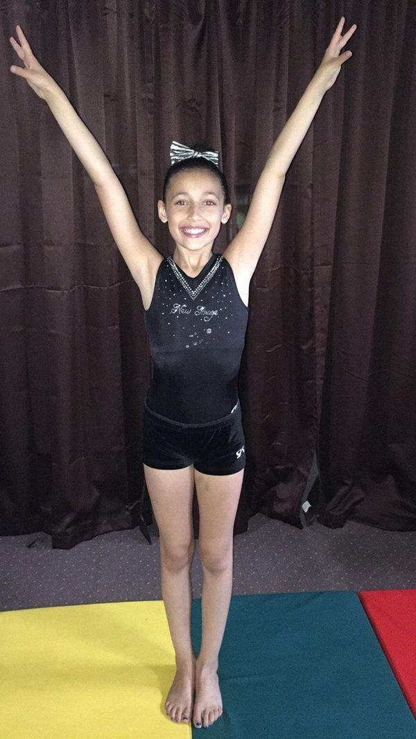 Kidsday reporter Olivia Garcia enjoys doing gymnastics.