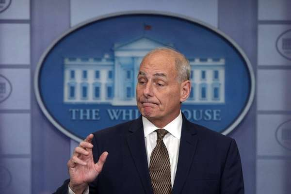 White House chief of staff John Kelly at