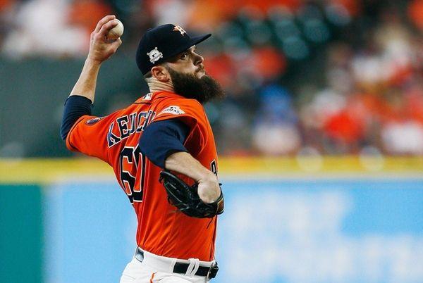 Dallas Keuchel of the Astros throws a
