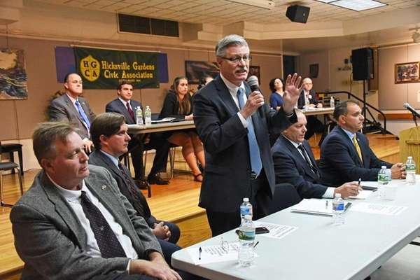 Candidates for Oyster Bay Town supervisor, from left