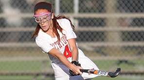 Smithtown East's Hannah Ackerman plays the ball during