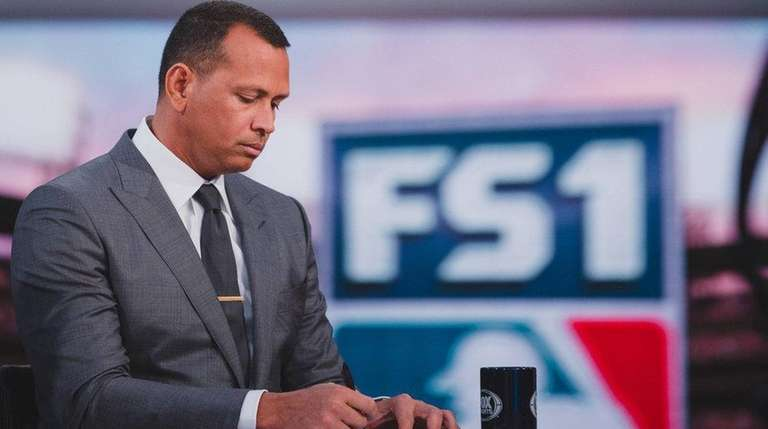 Alex Rodriguez on the FS1 set of Fox