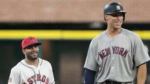 Yankees outfielder Aaron Judge and Astros second baseman