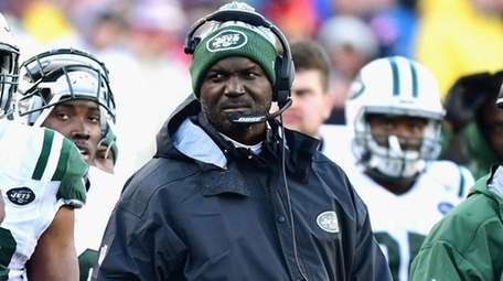 Jets head coach Todd Bowlesreacts during a game