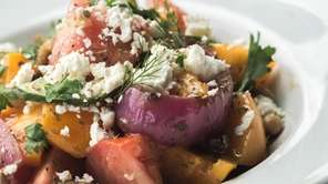 Horiatiki (Greek salad) is among the starters at