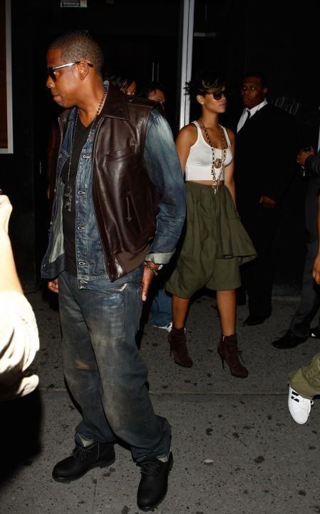 NEW YORK - SEPTEMBER 13: Rapper Jay-Z and