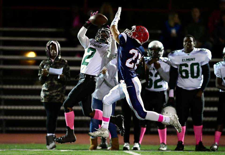 A pass intended for Chester Anderson of Elmont