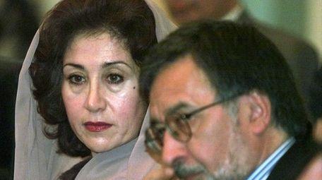 Sima Wali and Afghan diplomat Zalmai Rassoul at
