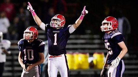 Kyle Acquavella of MacArthur celebrates his game-winning field