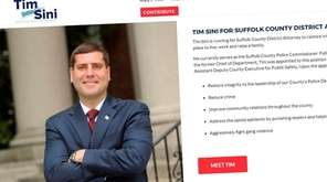 Suffolk County Police Commissioner Timothy Sini's campaign website
