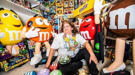M&M's superfan Karen Axel-Knispel at her home in
