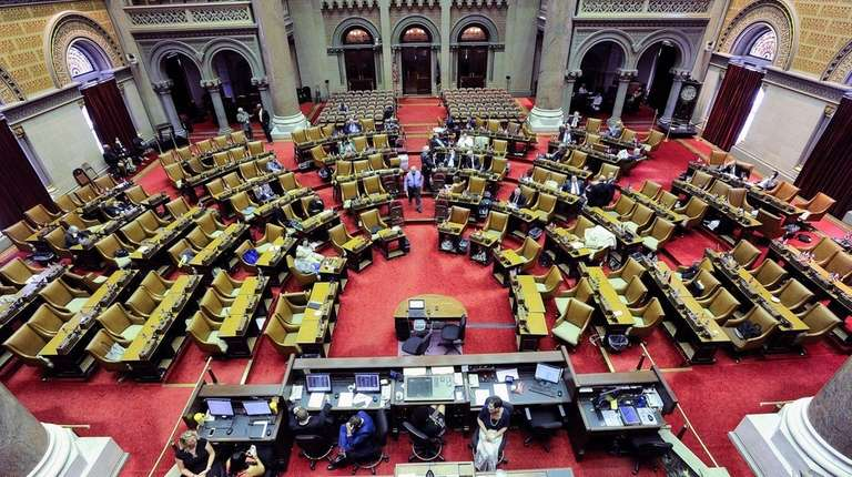 The New York Assembly chamber during a special