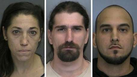 From left, Giovanna Mirando, 34, Nicholas Verna, 32,
