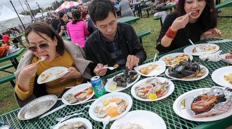 Visitors feast on oysters, mussels, clams, apple pie