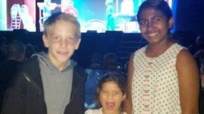 Kidsday reporters Alex Tanney, 11, of Jericho, left,