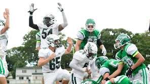 Jay Johnson #54 of Locust Valley celebrates a