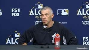 Yankees manager Joe Girardi said opposing pitchers are
