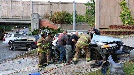 A motor vehicle crash in Medford on Saturday,