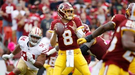 Kirk Cousins of the Washington Redskins looks to