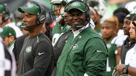 Jets coach Todd Bowles during the second half