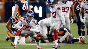 New York Giants cornerback Janoris Jenkins (20) reacts