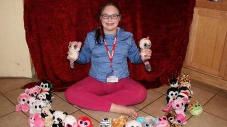 Kidsday reporter Maggie Stolberg with her Beanie Boos