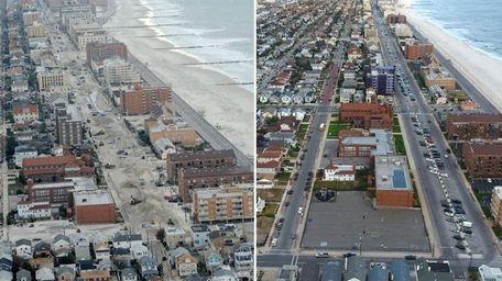 Long Beach facing east between Beech Street and