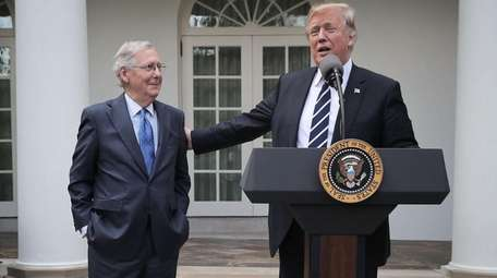 Senate Majority Leader Mitch McConnell (R-Ky.) and President