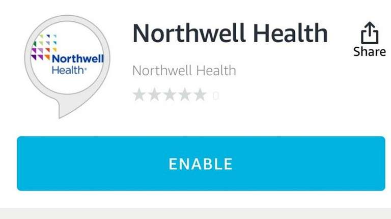 The Northwell Health skill on Alexa pulls data