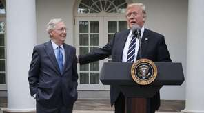 Senate Majority Leader Mitch McConnell and President Donald