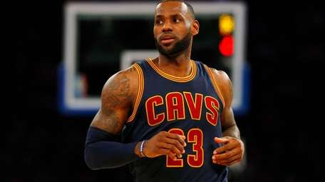 LeBron James in the second quarter against the