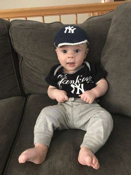 Cutest little Yankee fan!