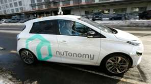 An autonomous vehicle is driven by an engineer