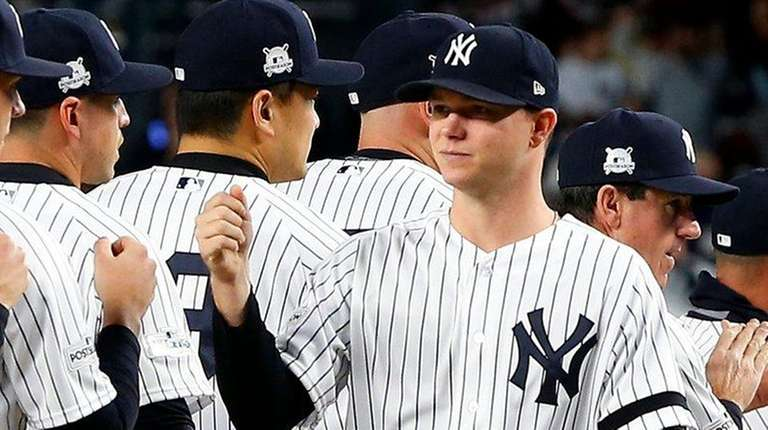 Yankees pitcher Sonny Gray is introduced before game
