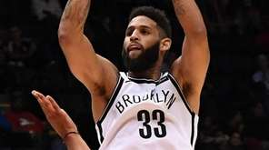 Brooklyn Nets guard Allen Crabbe puts up a