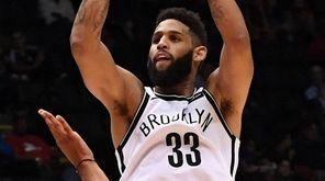 Brooklyn Nets guard Allen Crabbe puts up a