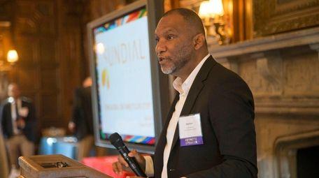 Raja Kaul of Amityville-based Sundial Brands speaks in