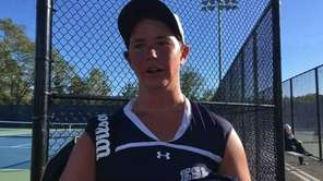 Eastport-South Manor's No. 2 Jackie Bukzin talked about